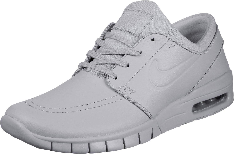 6d247828a9 Nike SB Stefan Janoski Max L Ski Grey Leather Trainers, Grau (Wolf  Grey/Metallic Pewter), 36.5 EU: Amazon.co.uk: Sports & Outdoors