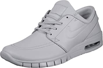 sports shoes f4751 506c5 Nike SB Stefan Janoski Max L Ski Grey Leather Trainers, Grau (Wolf Grey