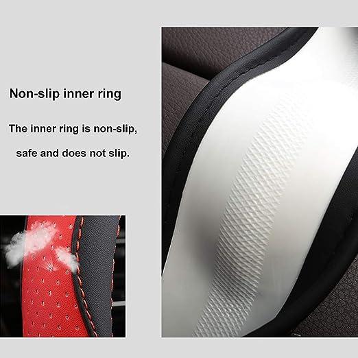 Jinitaimei Couvre Volant en Cuir R/ésistant /À lusure Taille Universelle 34-40Cm Noir,34cm