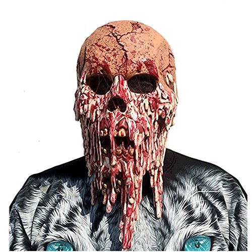 Likorlove - Scary Mask Halloween Horror Scary Masks Skull Zombie Face Mask Bloody Face Mask Horror Adult Costume (Really Scary Horror Halloween Costumes)