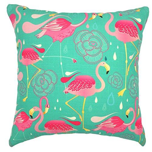 [YOUR SMILE-Flamingo Cotton Linen Throw Pillow Cases Decorative 18 x 18] (Flamingo Throw)
