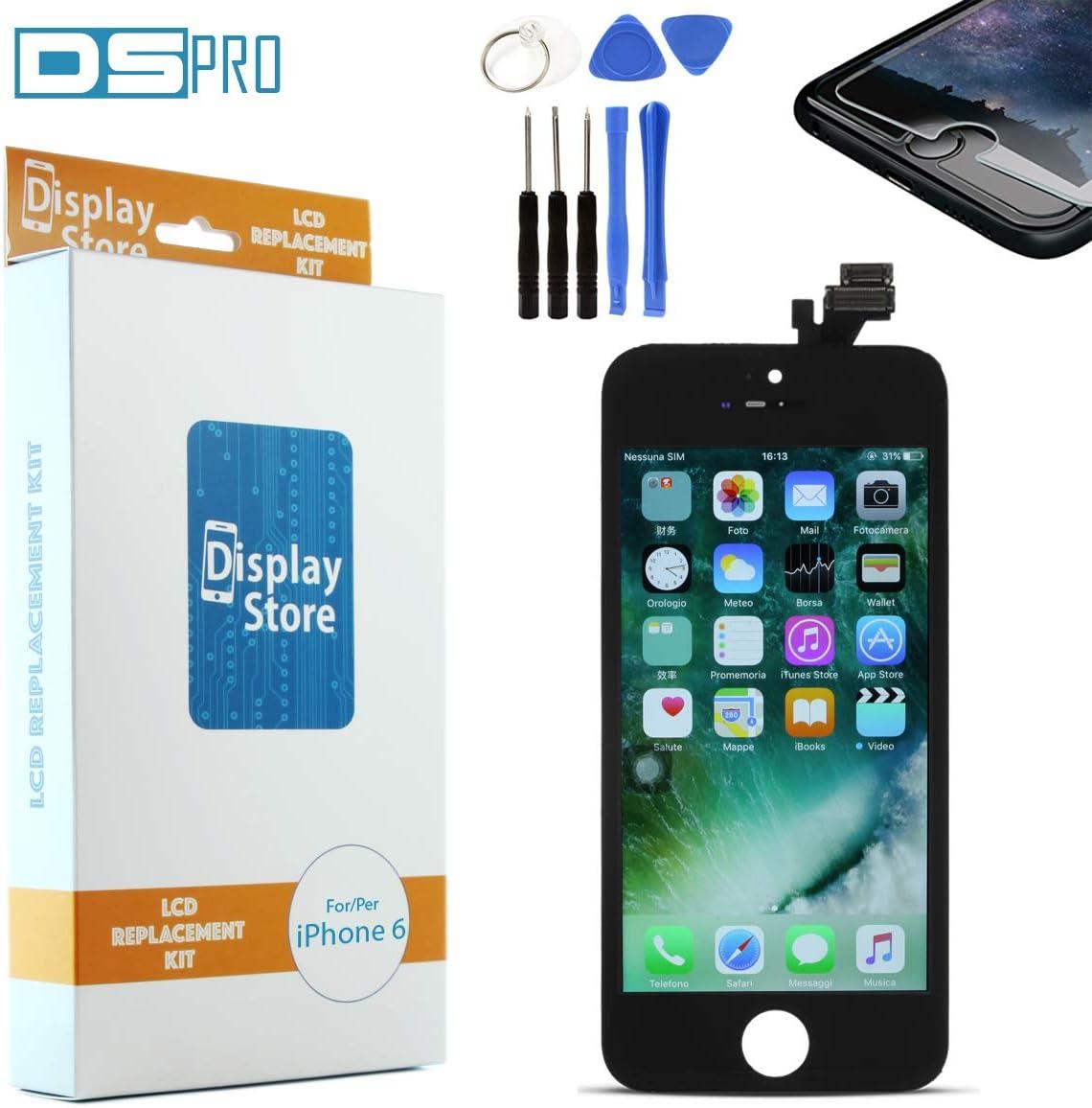 DS PRO 6BK Cámara Digital Service Pack – Pantalla Compatible para iPhone 6 Pantalla + Pantalla LCD AAA Grade Negro, Juego de Herramientas, Protector, Instrucciones para desmontaje y Montar.: Amazon.es: Electrónica