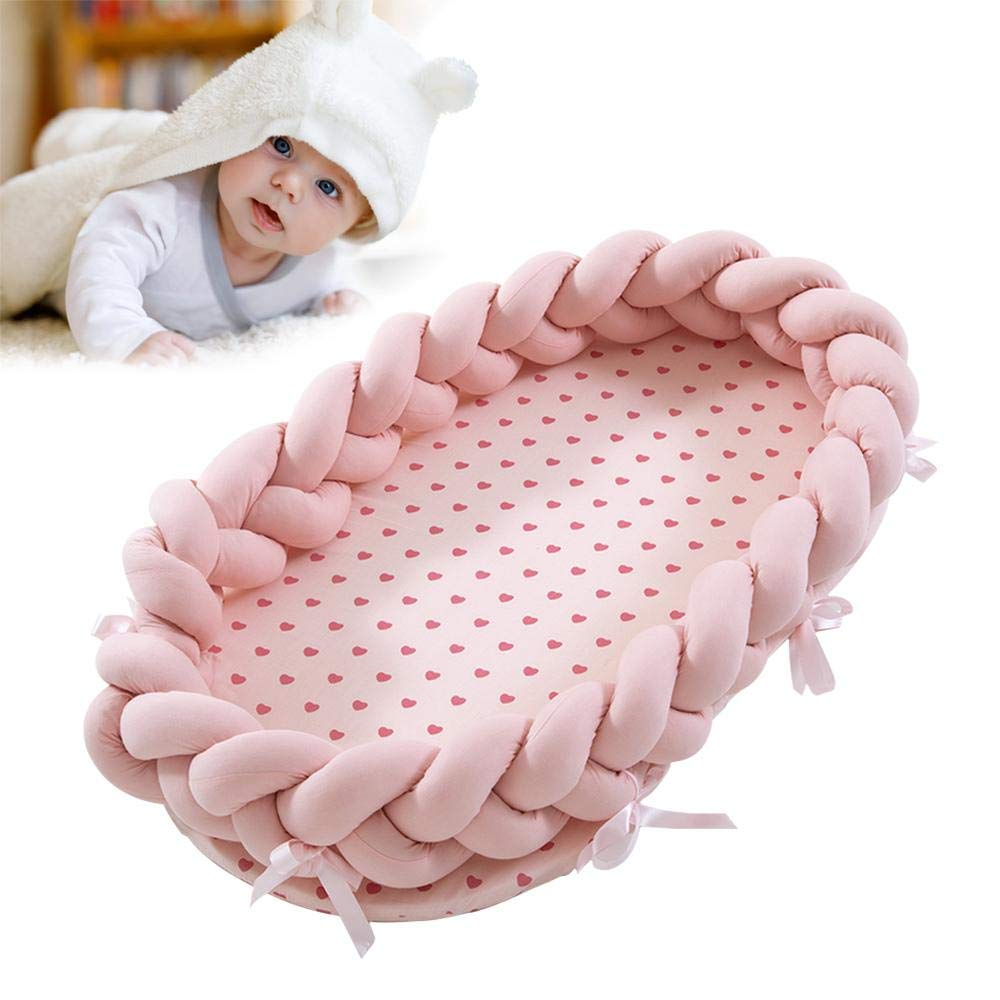 Rosa Gris Transpirable e hipoalerg/énica Cuna para Dormir Cama bi/ónica 100/% algod/ón Suave para beb/é Cuna para beb/é para Cama OOOUSE