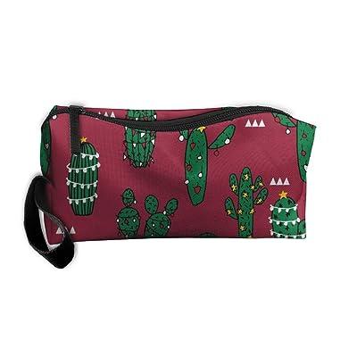 8bec912e0c31 30%OFF Christmas Cactus Cosmetic Bag Pencil Case MakeUp Organizer ...