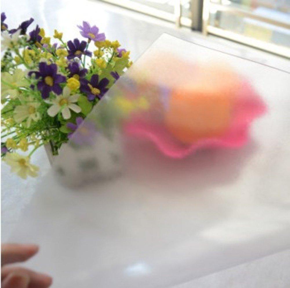 Tablecloths DE Pvc tisch tuch weich glas wasserdicht und anti-bügeln tisch tuch,transparent frosted tischtuch plastik couchtisch matte tisch matt-F 85x135cm(33x53inch) B07D91TS39 Tischdecken Bekannt für seine gute Qualität  | Niedriger Preis und gute
