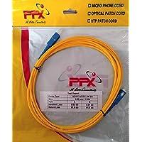 Generic SuperShopperIndia Simplex Single Mode SC to SC Optical Fiber Patch Cord 9/125 Jumper Cable 5 Meters 15 ft (SC/PC - SC/PC)