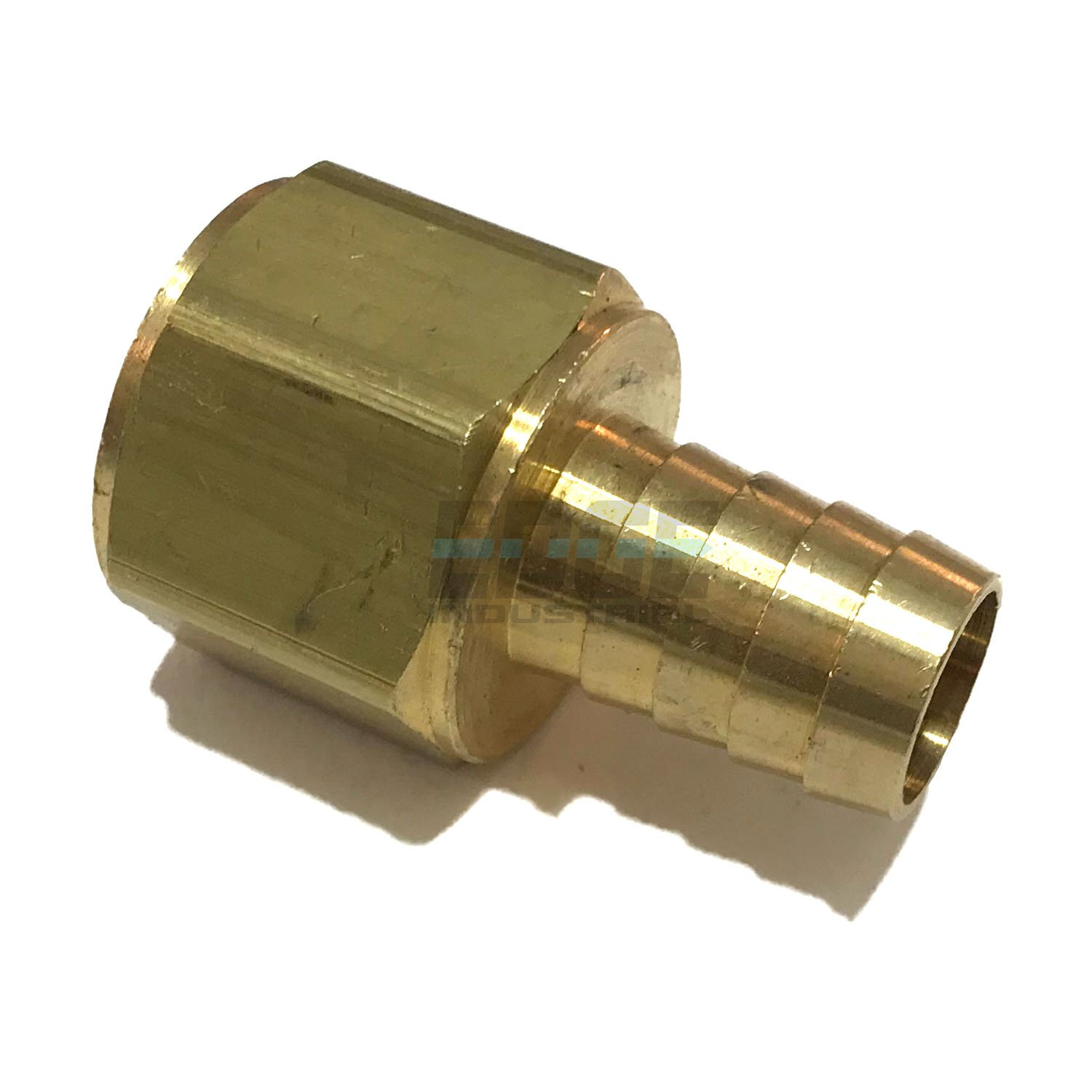 EDGE INDUSTRIAL 5/8'' HOSE ID TO 3/4'' FEMALE NPT FNPT STRAIGHT BRASS FITTING FUEL/AIR/WATER/OIL/GAS/WOG