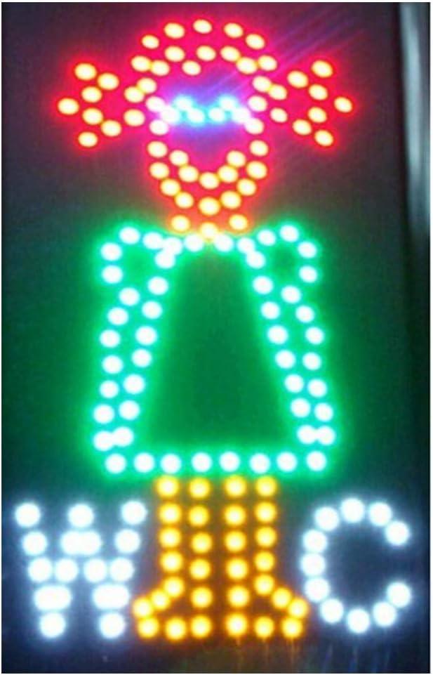 Chenxi quadrato WC Wash Room neon LED illuminato segni aperto ultra luminoso lampeggiante 48/x 48/cm interni di uomo donna toilette Wash Room moderno 48 X 25CM A