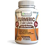 BioGanix Turmeric Curcumin Supplement with BioPerine (Black Pepper Extract) - 1000 milligram - 120 Anti-inflammatory Capsules for Inflammation and Joint Pain Relief (2 month supply)