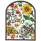 Autumn Stained Glass Counted Cross Stitch Kit-10x13.25 14 Count