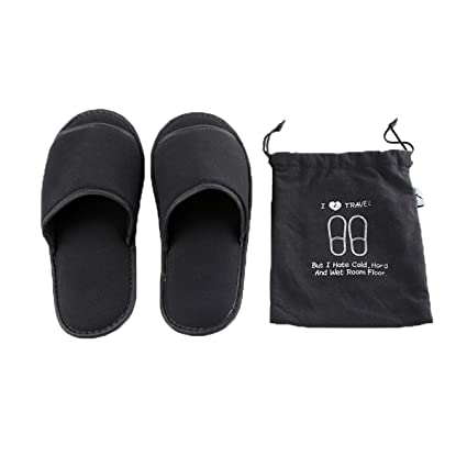 ca85db9c7bbbd Amazon.com : Comfysail Foldable Portable Slippers Washable Open Toe ...