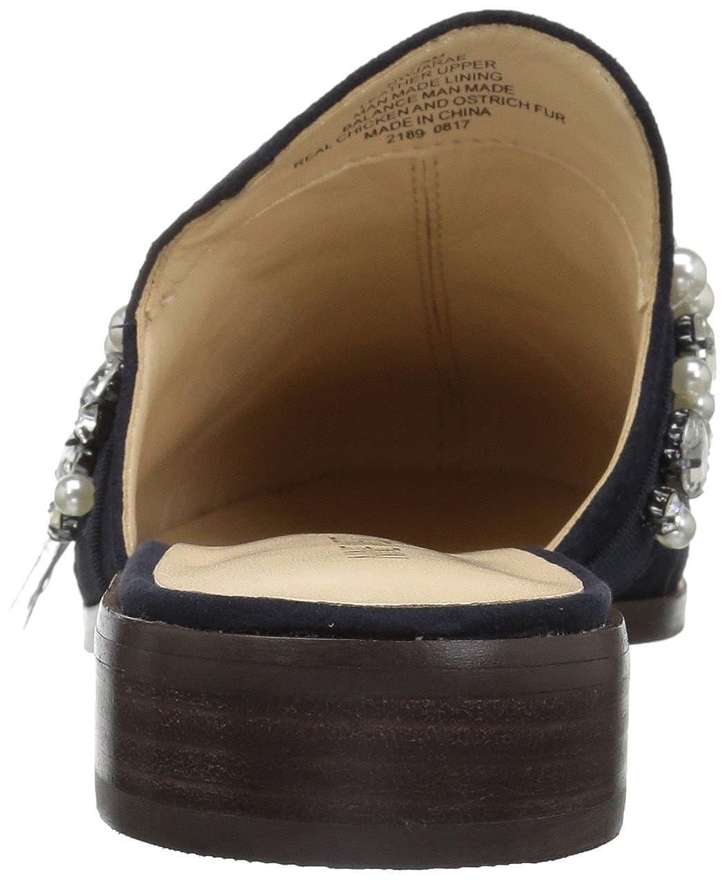 Nine West Womens JATOBA Leather Fashion Boot Navy 10.5 Medium US
