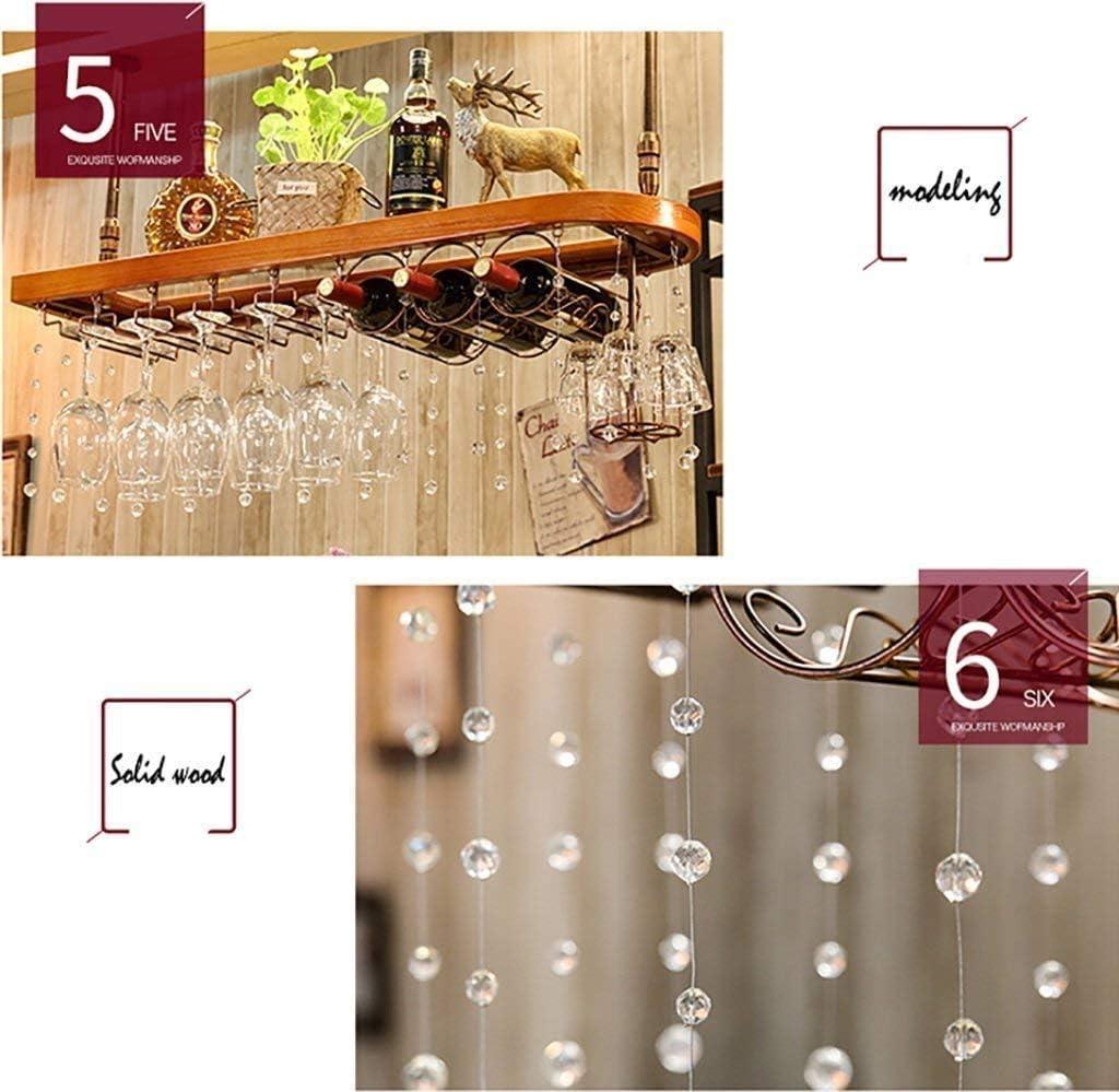 WIN&FACATORY Wijnrek Hang Wijnrek Bar Cup staat creatieve Omgekeerde wijnglazen houder Wijnrek wandsteun (afmeting: 100 x 28 cm) 100 * 28cm 80 x 28 cm. 80 x 28 cm.