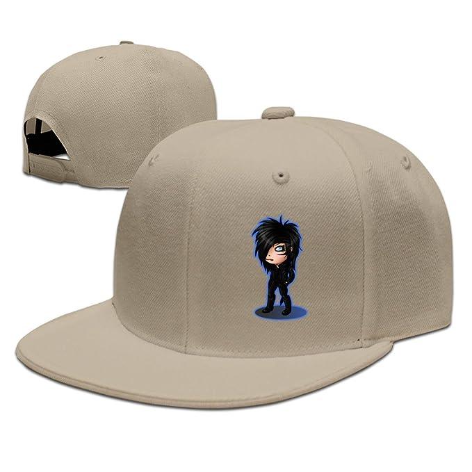 8f10f74a3b2 Black Veil Brides Andy Biersack Andy Six 6 Chibi Baseball Snapback Hat  Natural  Amazon.ca  Clothing   Accessories