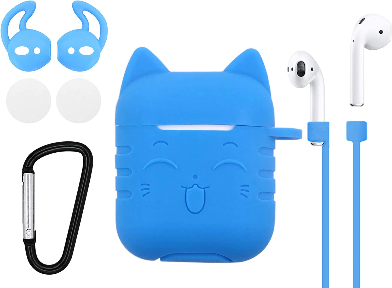 Cat AirPods Holder Personalized Case For AirPods Lovely Kitten Apple Earphones Cover Monogram Headphones Case Girlish AirPods Case RL0421