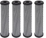 Pentek C1 Carbon Filter Cartridge, 9-3/4'' x 2-1/2'', 5 Micron (4, 1 Pack)