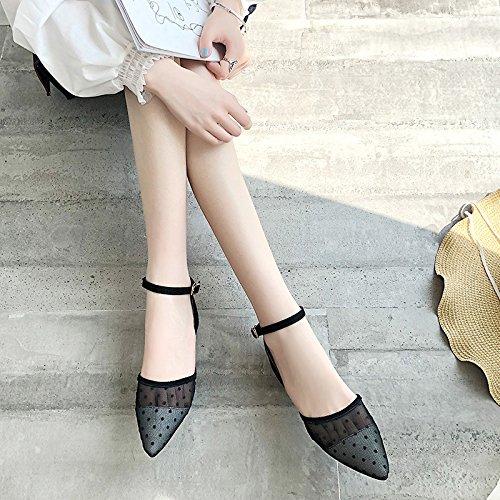 donna di appuntita confortevole 35 sandali garza Traspirante 35 piatto di della pizzo scarpe il fondo piatto YMFIE unico e ZYq4g