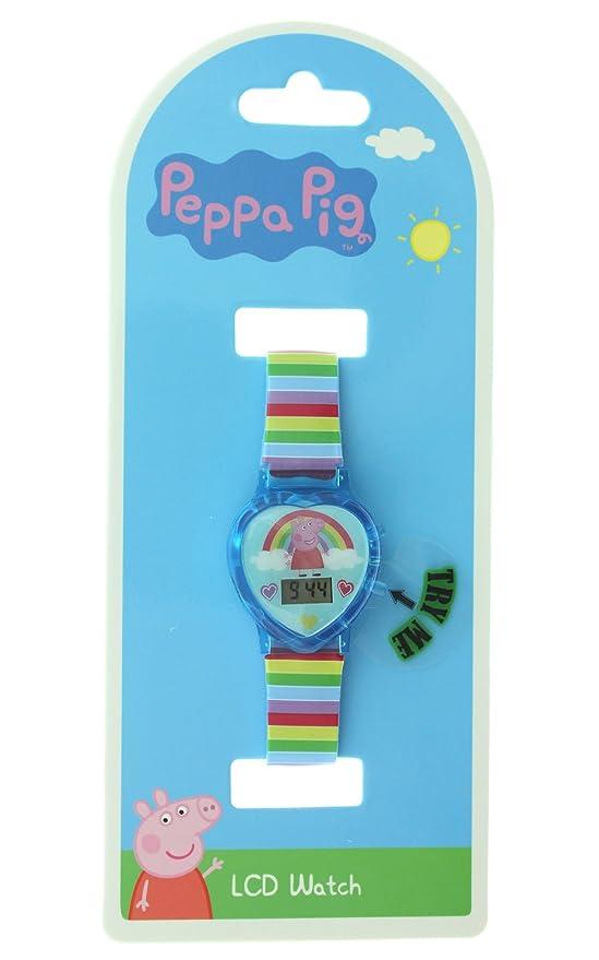 Peppa Pig Little Kid s Rainbow reloj digital con luz Up función: Amazon.es: Relojes