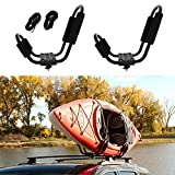 ABN Kayak Roof Rack J Rack Mounted Roof Top Carrier – Kayak, Canoe, SUP, Ski, Surf J Bar Vehicle Attachment Holder