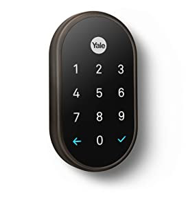 Nest x Yale Lock (Oil-Rubbed Bronze) with Nest Connect…