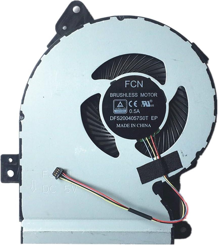 DXCCC Ventilador de CPU para Ordenador portátil ASUS X541 X541S X541SC X541U X541UV X541UA D541NA R541S X541JL CPU Ventilador de refrigeración