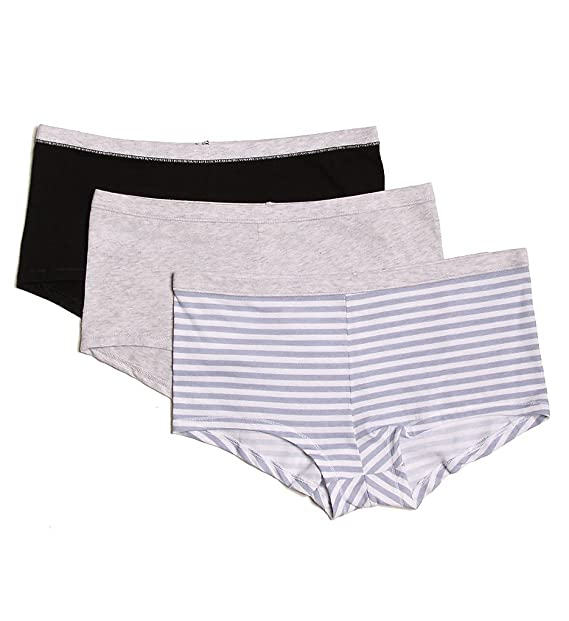 65e34e35741 Hanes ComfortSoft Cotton Stretch Boy Brief Panty- 3 Pack (ET49) 6 Assorted  at Amazon Women s Clothing store