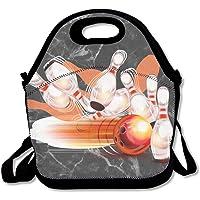 Bowling Ball Transparent Shining Insulated Lunch Bag for Women Girls Men Kids Teens Boys Adults