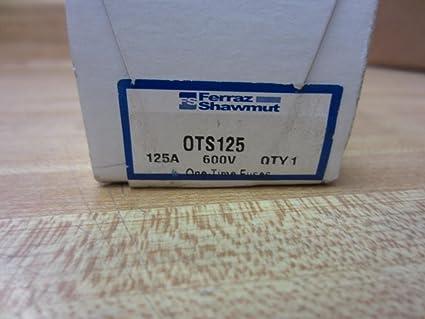Shawmut OTS125 Gould Fuse 125A 600V