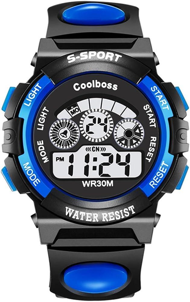 VICVIO Relojes Deportivos Impermeable para los Niños/Niñas Reloj de Pulsera Digital a Prueba de Agua Infantiles Azul/Rosa