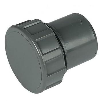 Steckanschluss f/ürs Abflussrohr aus ABS 40/mm in Grau Floplast