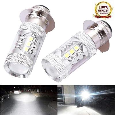 Hoypeyfiy 2x Headlights For Yamaha Raptor 125 250 660R 700R YFM660R LED Bulbs 6000K White: Automotive
