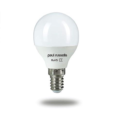 3 Pack 5 W bombillas LED E14 SES rosca Edison pequeña, Paul Russells brillante 5