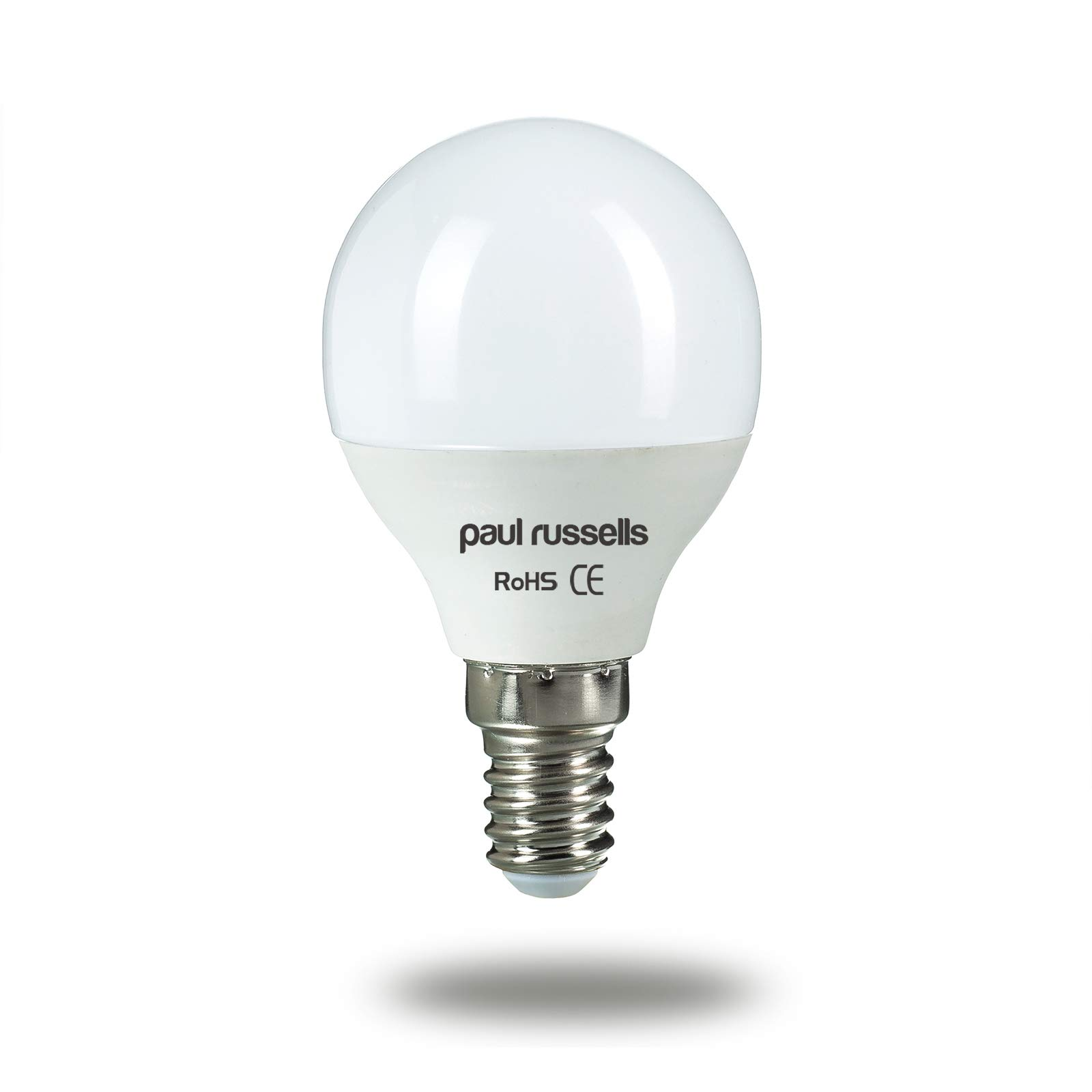 7W Golf Ball LED Light Bulbs SES E14 Small Edison Screw Paul Russells Bright 7W=60W G45 Small Globe/Round 270 Beam Lamp 2700K Warm White 60W Incandescent Replacement
