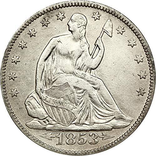 1853 P Liberty Seated Half Dollars Arrows & Rays Half Dollar AG0 NGC