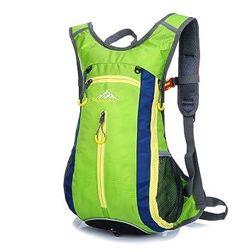 Besporter MTB ciclismo senderismo Running Senderismo Mochila Mochila bolsa + 2L agua vejiga, color FLUORESCENTGREEN, tamaño talla única: Amazon.es: Deportes ...