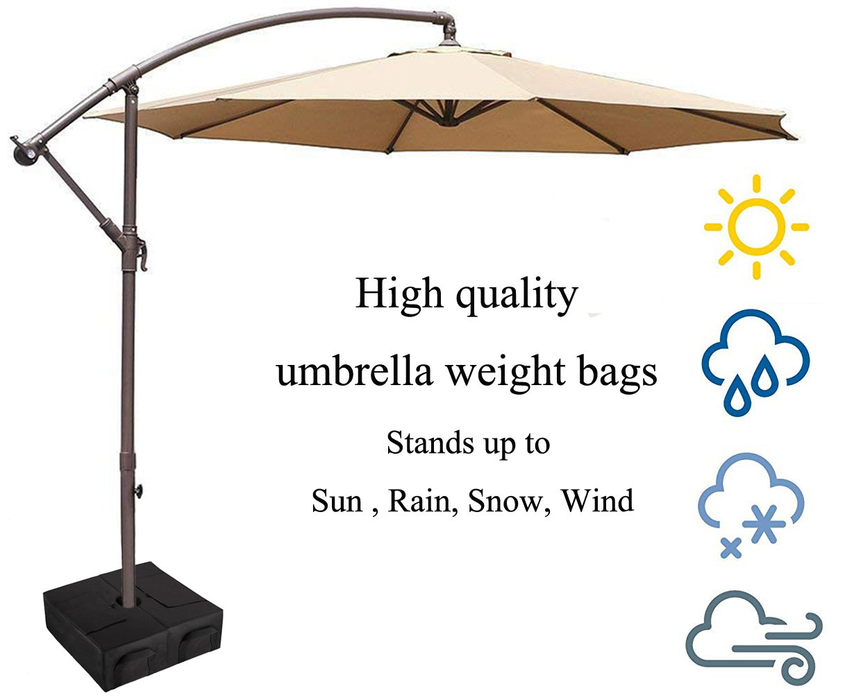 CELEISITE 2-piece Umbrella BASE WEIGHT BAGS, Waterproof Umbrella Stand Weights, 18'' Weight Bags with Shovel for any Offset, Cantilever or Outdoor Patio Umbrella, Easy to Set up by celeisite (Image #3)