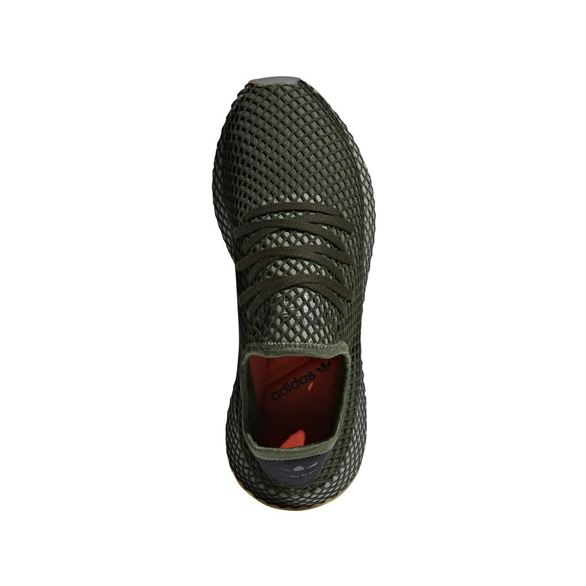 more photos 43a60 eeb11 Amazon.com  adidas Mens DEERUPT Runner GreenGreenOrange - B41771   Running