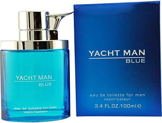 Amazon.com : Yacht Man Blue Eau-de-toilette Spray, 3.4 Ounce : Perfumes : Beauty