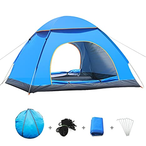BATTOP 3-4 Person Water Resistant C&ing Tent With Carry Bag for Backpacking3  sc 1 st  Amazon.com & Amazon.com: BATTOP 3-4 Person Water Resistant Camping Tent With ...