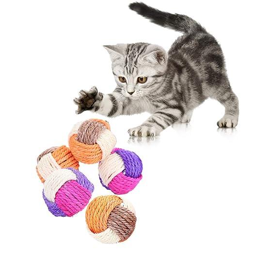 5,5 cm gato garra rastrillo, pata, bola interactiva, juguete para ...
