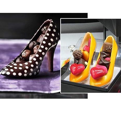 Footprintse Zapatos de tacón alto 3D molde Fondant Cake molde de chocolate decoración de pasteles Postre