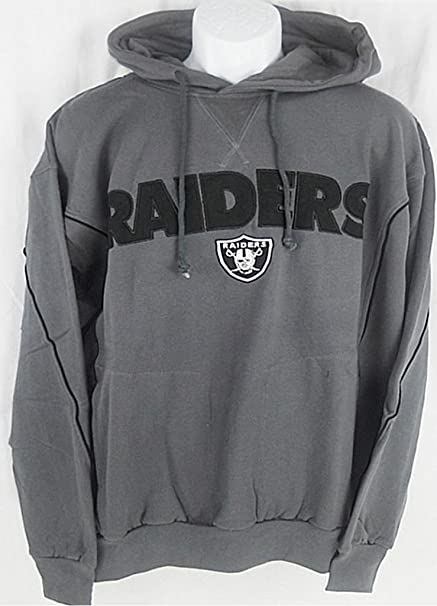 0569da7a Oakland Raiders NFL Mens Charcoal Pullover Hoodie Big & Tall Sizes