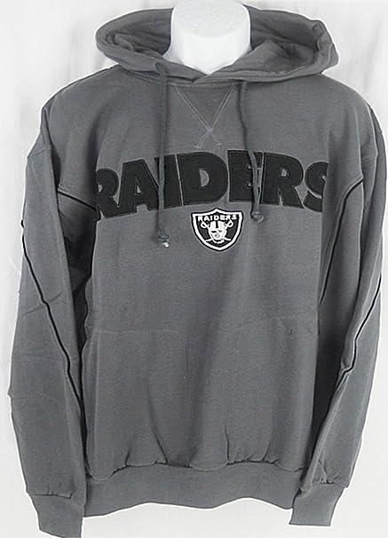 Amazon.com   Oakland Raiders NFL Mens Charcoal Pullover Hoodie Big ... c7b9fcae0