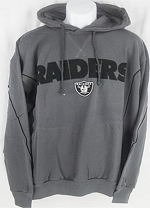 quality design 749b2 ea810 Oakland Raiders NFL Mens Charcoal Pullover Hoodie Big & Tall Sizes