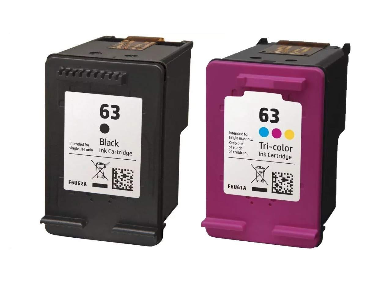 交換用プリンタインクコンボカートリッジ 63 ブラック & 63 3色インクカートリッジ Envy 4521プリンター対応 B07GMF7LFL