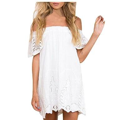 Bekleidung Longra Frauen Kleid Damen Sommer Strand Partei Kleider ...
