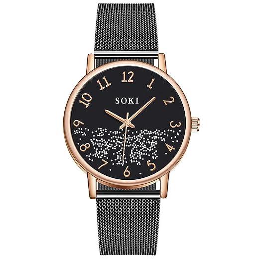 DAYLIN Marcas de Relojes Hombre Mujer Deportivos de Moda Reloj de Pulsera de Cuarzo Analogico Negro/Oro Rosa/Oro Wrist Watch Men Mujer Regalos: Amazon.es: ...
