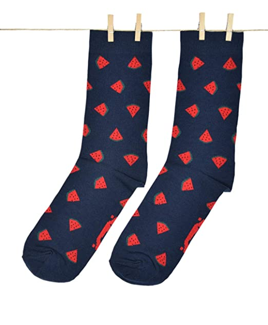 Roits Watermelon Azul 41-46 - Calcetines para Hombre