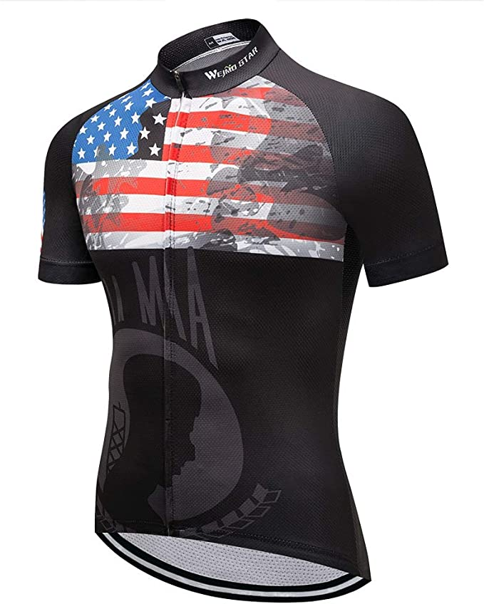Men/'s New Cycling Bike Short Sleeve Top Clothing Bicycle Sportwear Jersey M-XXL