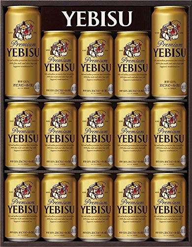 ヱビスビール缶ギフトセットYE4D350ml×13本・500ml×2本
